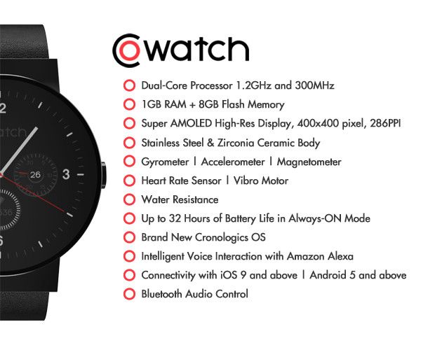 CoWatch: The Most Affordable High-End Alexa Integrated Smartwatch