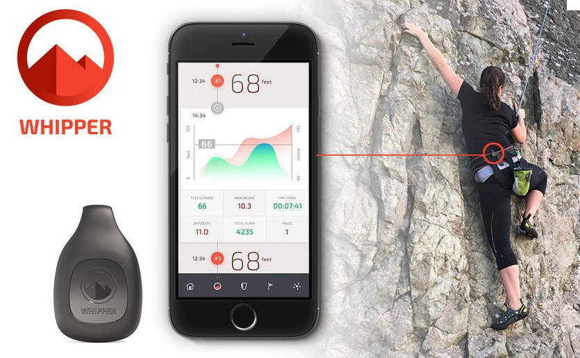 Whipper -The World's First Wearable Performance Tracker For 'Climbing'