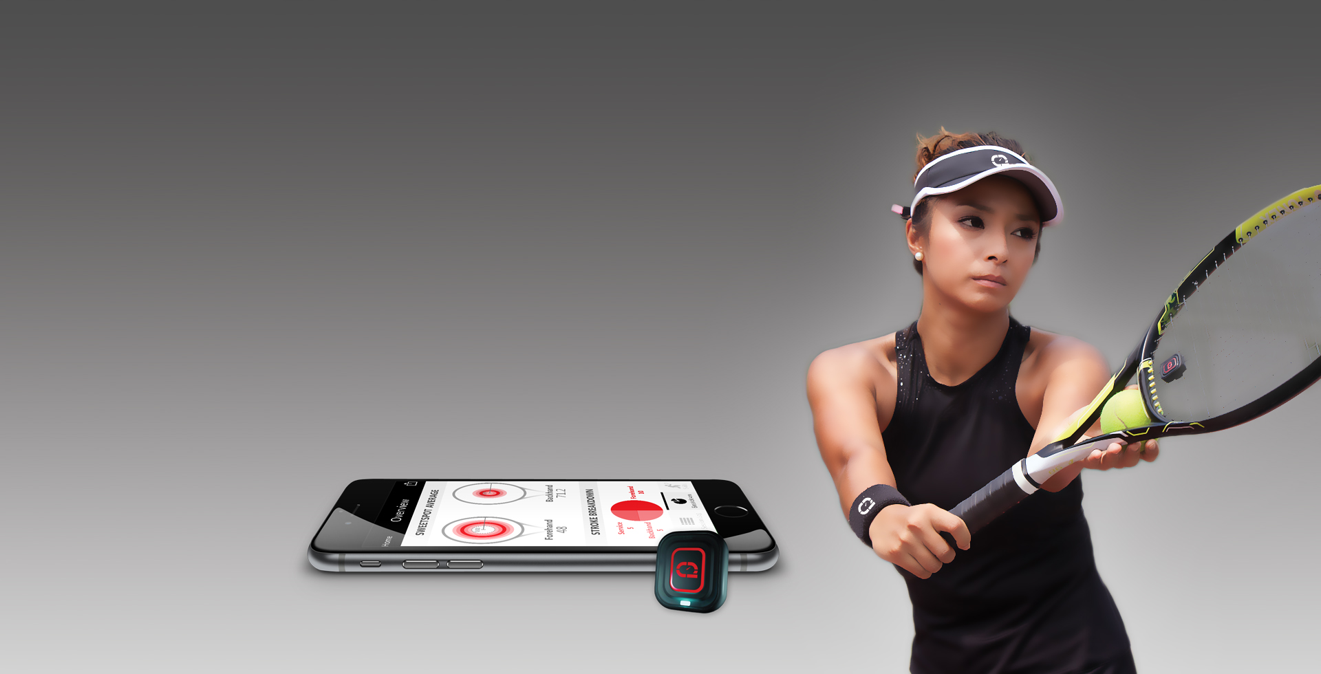 Qlipp Tennis Sensor Analyzes Strokes Of The Tennis Players