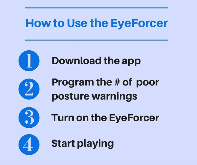 EyeForcer - Wearable Tech that Monitors Kids' Posture