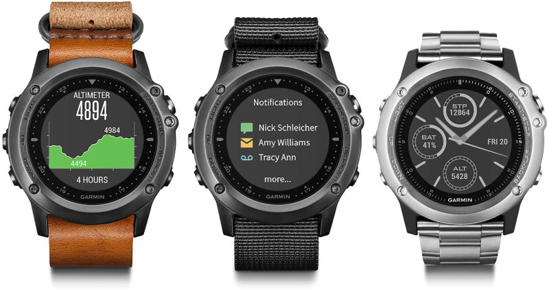 b1dc6c7663a8e Garmin Fenix 3 Sports Wearable Tracks Heart Rate Along With Your Games!