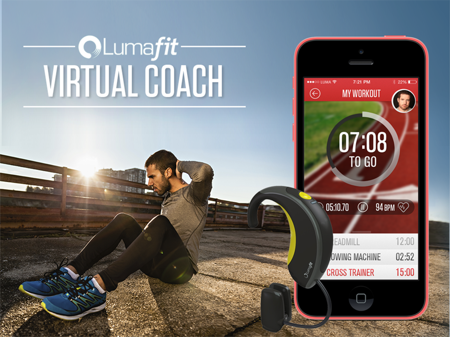 LumaFit Is Your Interactive Personal Coach And A Heart Rate Monitor
