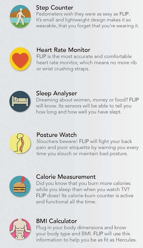 Flip Is A Wearable Fitness Tracker Designed For Your Ear!