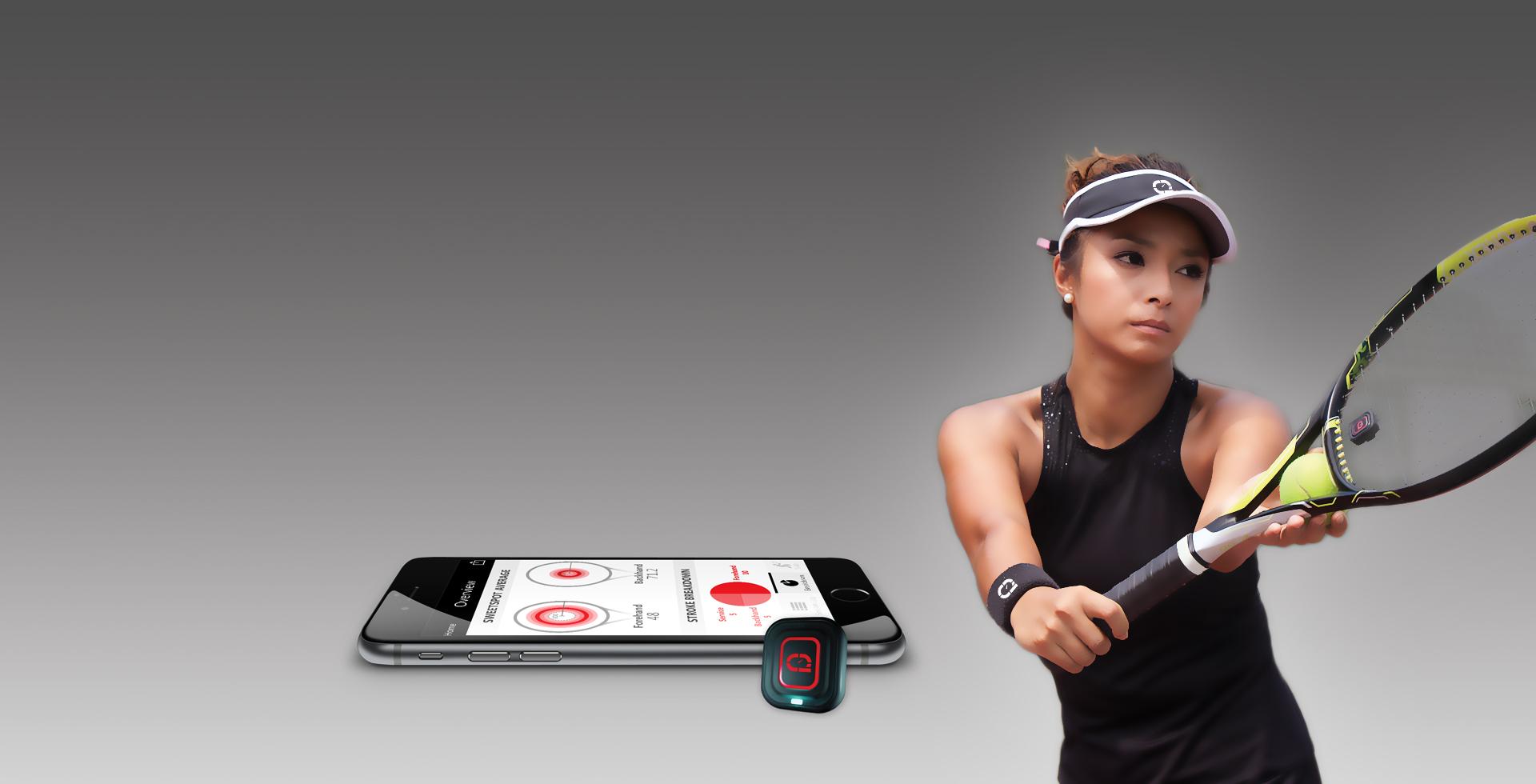 Qlipp Tennis Sensor Analyzes Strokes Of The Tennis Players